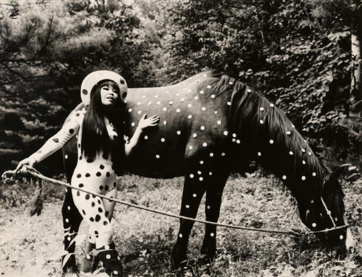 Kusamas-Self-Obliteration-Horse-Play1