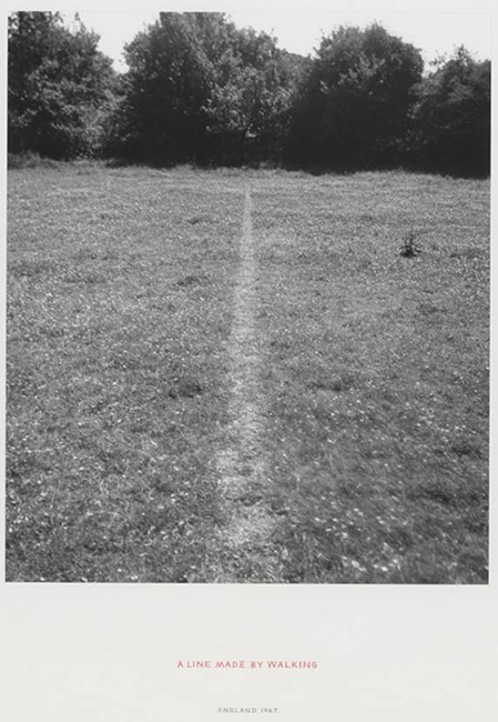 A Line Made by Walking 1967 by Richard Long born 1945