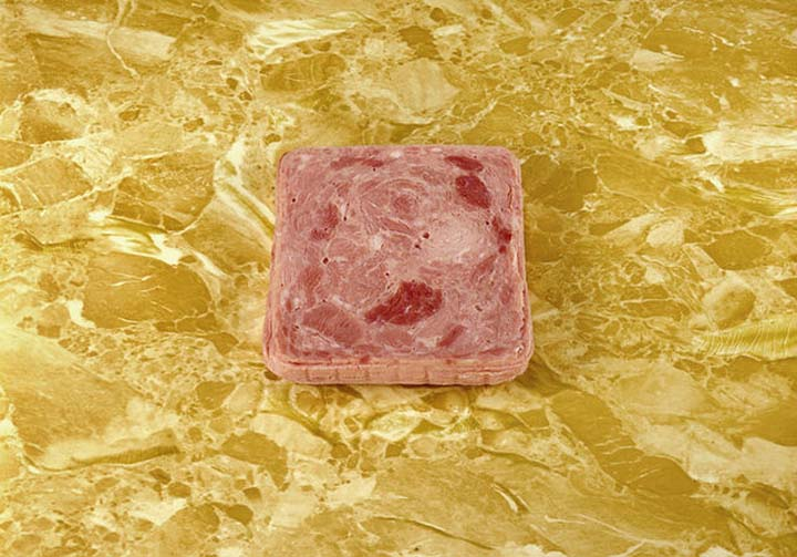 LUNCHEON MEAT ON A COUNTER