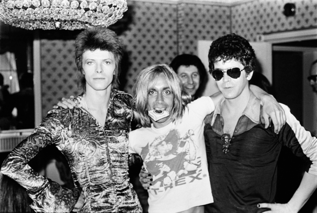 Mick Rock david-bowie-iggy-pop-lou-reed