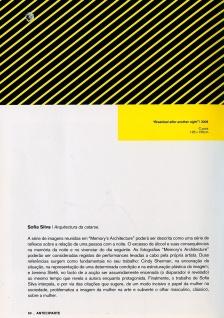 'Anteciparte', 2009. Words by Maria do Mar Fazenda.
