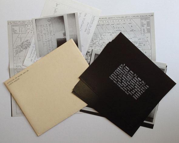 Joseph Kosuth notebooks on water 1970
