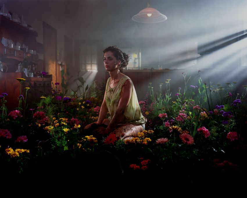 woman in flowers, 1999