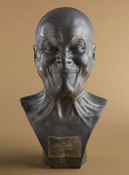 © Franz Xaver Messerschmidt,  A Strong Man, 1771-83, tin-lead cast.