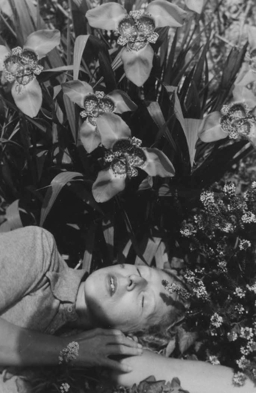 © Claude Cahun, Self-portrait in flowers, 1939.