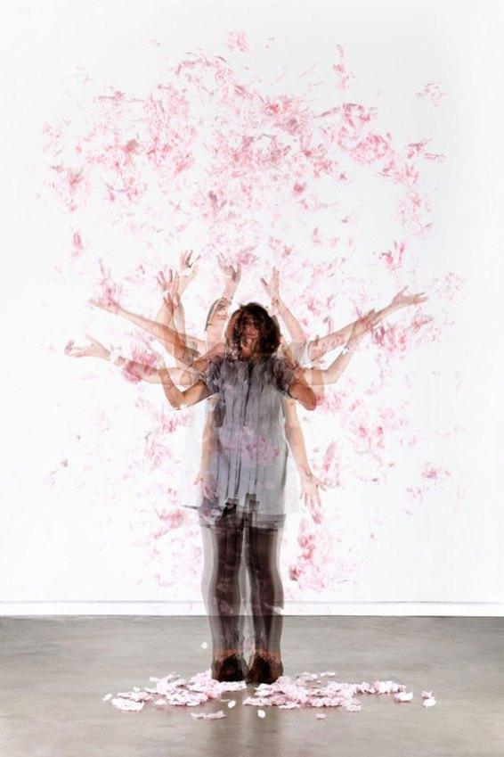 'Cherry Tree' from the project 'Temporary Trees'. Light box – Oak wood, acrylic, lambda-trans, 128,5 x 87 x 20 cm (h x w x d).